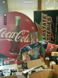 Coca Cola Sign And Other Items