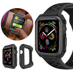 For Apple Watch Series 4 3 2 1 Silicone Bumper Protective Case Cover 424044mm