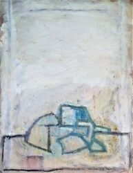 Abstract Composition. Wax And Paraffin On Canvas. Atrib. Enric Massot.spain.xxth