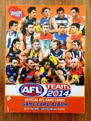 Afl Teamcoach Team 2014 Came Card Album Folder And Trading Cards Mixed Lot