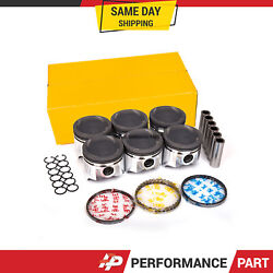 Pistons With Rings @0.50mm Fit 87-92 Toyota Supra Turbo 3.0l Dohc 7mgte