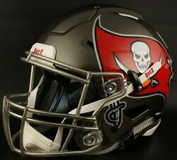 Tampa Bay Buccaneers Nfl Authentic Gameday Football Helmet W/ Sf-2bd Facemask