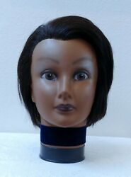 Vintage 1970's African American Cosmetology Mannequin Head Excellent To Mint