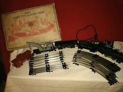 Antique Marx 4915-s Steam Type Electric Train Set Louis Marx And Co W/box