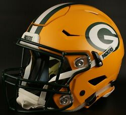 Green Bay Packers Nfl Authentic Gameday Football Helmet W/ Sf-2bd Facemask
