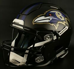 Baltimore Ravens Nfl Authentic Gameday Football Helmet W/ Sf-2bd Facemask