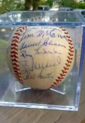 1960 Team Signed Baseball Very Rare 20 Signatures + Stan Musial And Bob Gibson