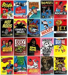 2018 Topps 80th Anniversary Wrapper Art Card Choose Complete Set Lot Cards Rare