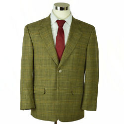Tasso Elba Mens Sportcoat Sz 40s Brown Houndstooth Check Cashmere Wool E. Thomas