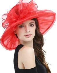 Janey And Rubbins Women's Kentucky Derby Party Hats Church Organza Dress Caps