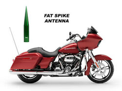 True Spike 5 Green Fat Spiked Antenna For Harley Davidson Road Glide Tour-pak