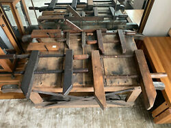 Wooden Woodworking Tools Planes-clamps/vises And A Square