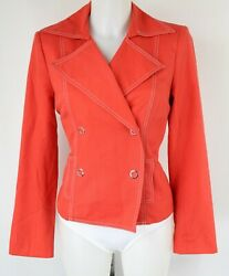 David Meister Red Double Breasted Jacket Size 8 $23.40
