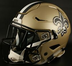 New Orleans Saints Nfl Authentic Gameday Football Helmet W/ Sf-2eg-sw Facemask