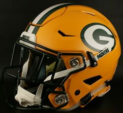 Green Bay Packers Nfl Authentic Gameday Football Helmet W/ Sf-2eg-sw Facemask