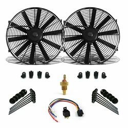 Super Cool Pack W/ 2 16 Fans Fixed Temp Switch Harness And Brackets And Additive