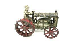 Antique Cast Iron Fordson Tractor Toy Metal Very Rare Collectible