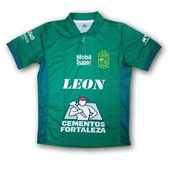 Club Leon Menand039s Short Sleeve Jersey 2018 Design Green/white