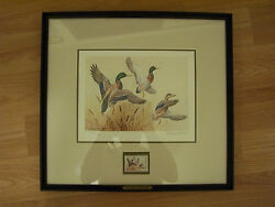 Ducks Unlimited - 1985 Signed Le 1956/5300 Maynard Reece Duck Print And Du Stamp