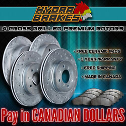 Fits 2003 2004 2005 Hummer H2 Drilled Brake Rotors Ceramic Slv