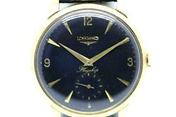Longines Flagship Black Dial 18 Ct Solid Gold