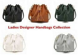 Ladies Handbag Designer Leather Tote Girls Purse Cross Body Bag Zip Lotus 78803 GBP 17.99