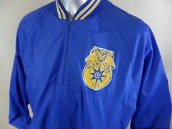 Teamsters 705 Vintage 80and039s Pullover 1/2 Zip Light Windbreaker Xl Chicago Union