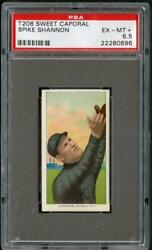 T206 1909 Spike Shannon Sweet Caporal  PSA 6.5 22280696