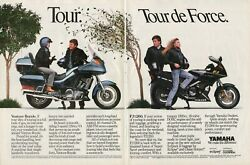 1989 Yamaha Venture Royale And Fj1200 - 2-page Vintage Motorcycle Ad