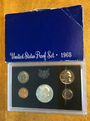 1968 S United States Mint Proof Set - Free Shipping