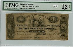 Obsolete 4 Macon, Ga 1117 Pmg F12 Net See Photos. Carefully Check Out The