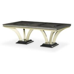 Aico Furniture - Hollywood Swank Modern 92-140 Double Pedestal Dining Table...