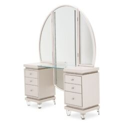 Aico Furniture - Glimmering Heights Vanity And Mirror - 9011058-111-1068