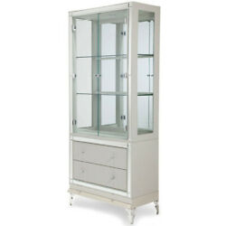 Aico Furniture - Hollywood Loft Frost Curio With Drawers - 9001605-104
