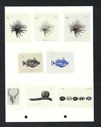 Seychelles Group Of 8 Vignettes Used In 10 Rupees - 25 Rupees 1998 P36-37
