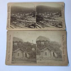 Rare Underwood Stereograph Stereoview Antique Pictures Of Alaskan Gold Mine 2