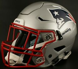 New England Patriots Nfl Authentic Gameday Football Helmet W/ Sf-2eg-ii Facemask