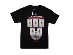 Chicago Blackhawks 2013 5x Stanley Cup Champs Champions Banner T-shirt