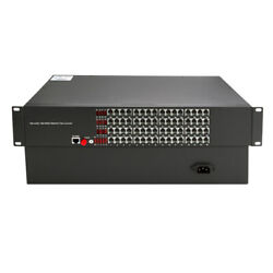 64ch Telephone Optical Extenders Pcm Voice Tel Over Fiber Optic With Ethernet