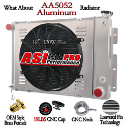 4 Row Radiator+shroud Fan+relay For 67 1968 1969 Chevy Camaro 21wide Core At Mt