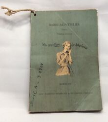 March 1959 Barre-montpelier Telephone Directory Vermont New England Telegraph