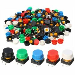 100pcs Plastic Tactile Switch PCB Tact Push Button Momentary Switch 4 Pins + …