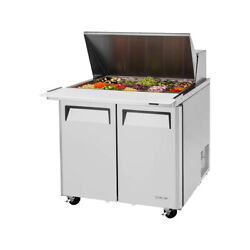 Turbo Air Mst-36-15-n6 36 Two Section Mega Top Sandwich Prep Table 15 Pan