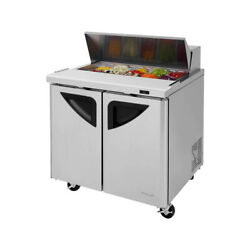Turbo Air Tst-36sd-n6 36 Two Section Sandwich / Salad Prep Table 11.0 Cu. Ft.