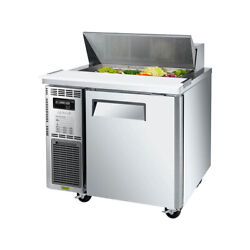 Turbo Air Jst-36-n 35 One Section Sandwich / Salad Prep Table, 7.5 Cu. Ft.