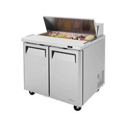 Turbo Air Mst-36-n6 36 Two Section Sandwich / Salad Prep Table, 9.5 Cu. Ft.