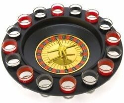 Casino Style Roulette Shot Glass Bar Drinking Game Set