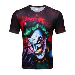 Men's Summer 2018 New the Joker 3d Funny Comics Character T-Shirt
