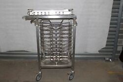 4 Stainless Steel Commercial Kitchen Plate Rack Holders 20 Per Trolley