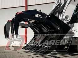 Skid Steer Attachment 66 Dual Cylinder Root Grapple Bucket For John Deere